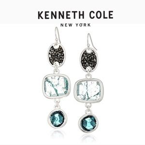 Kenneth Cole Mixed Crackle Stone Linear Earrings